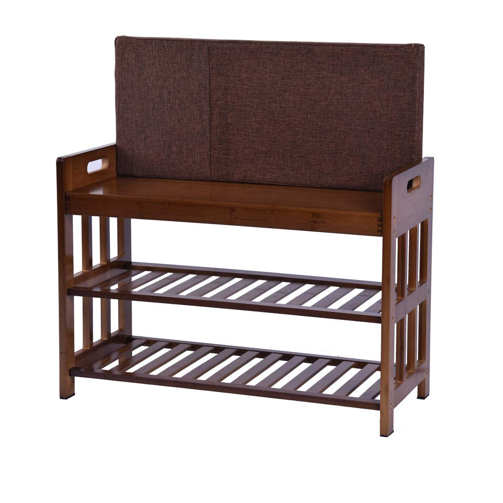 Natural Bamboo Shoe Rack Shoes Cabinet Entryway Shoe Storage Household Shelf Shoe Bench with Cushion,Ideal for Hallway Bathroom(Shipped from USA) by cnnIUHA (Image #3)