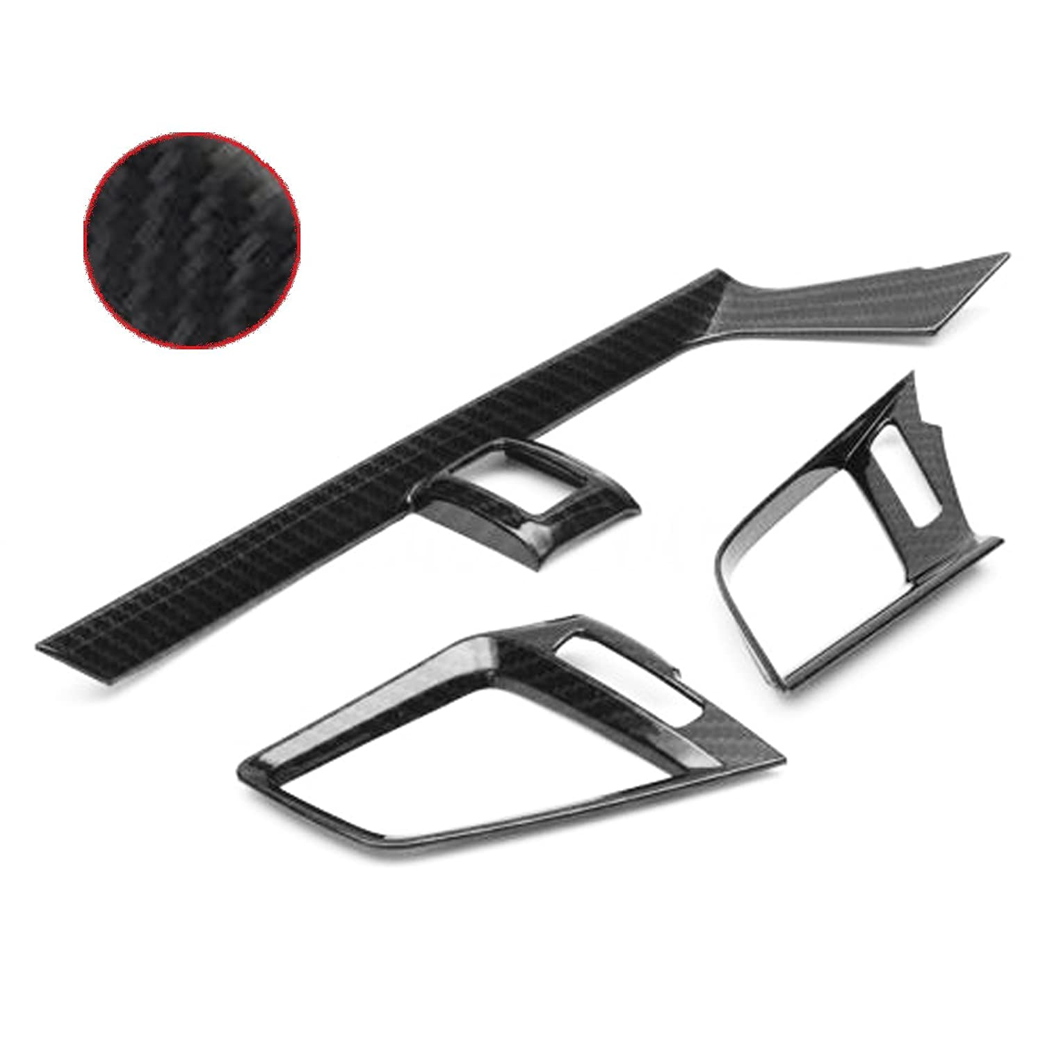 Xotic Tech Carbon Fiber Pattern Inner Door Handle Bowl Cover For Honda Civic 10th 2016 2017
