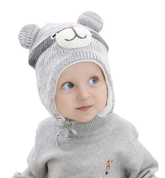 Superora Capello Bambini Invernale in Lana Maglia Paraorecchie Capelli  Berretto Caldo Ragazzi Infantili Animale Orso  Amazon.it  Abbigliamento b9e5a97dfdd8