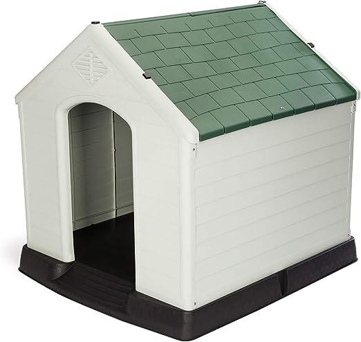 Gardiun KZT1003 - Caseta de Perro Zeus Maxi Resina Beige/Verde 96x105x98 cm: Amazon.es: Jardín