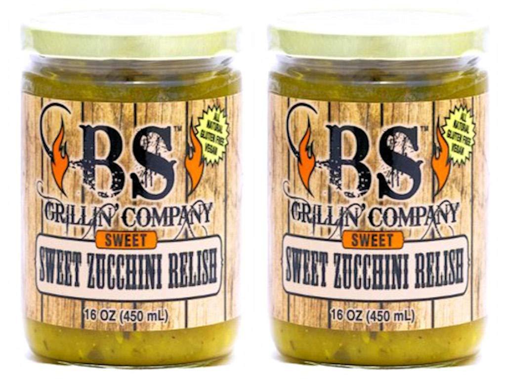 Variety Sweet Zucchini Relish 2 PK, All Natural + Gluten Free + Vegan, Priority Mail