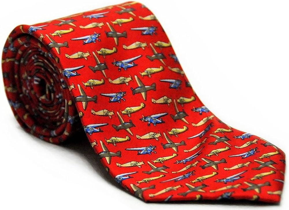 Men/'s Red Microfiber Boeing 747 Airplane Plane Pilot Novelty Necktie Tie