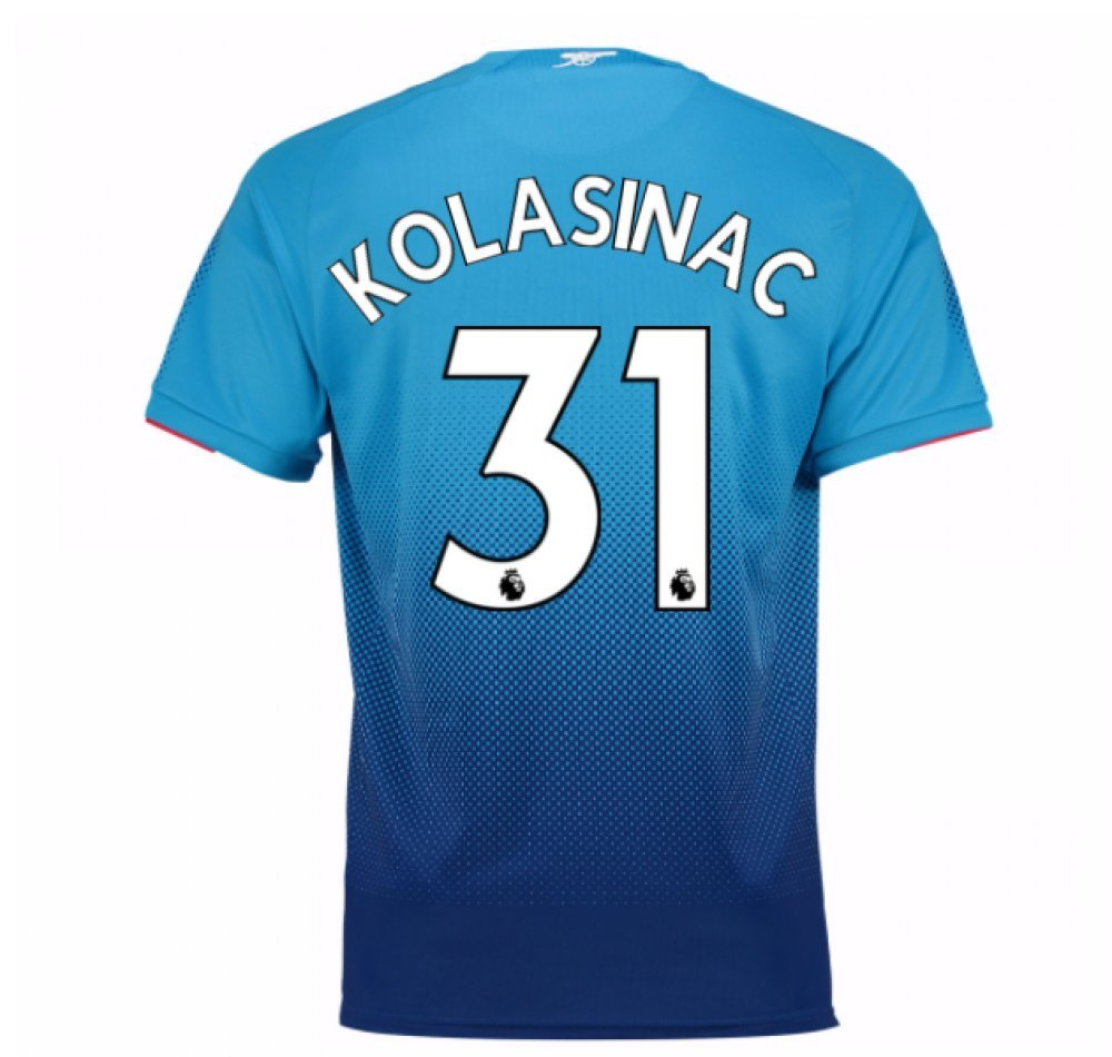 2017-2018 Arsenal Away Football Soccer T-Shirt Trikot (Sead Kolasinac 31)