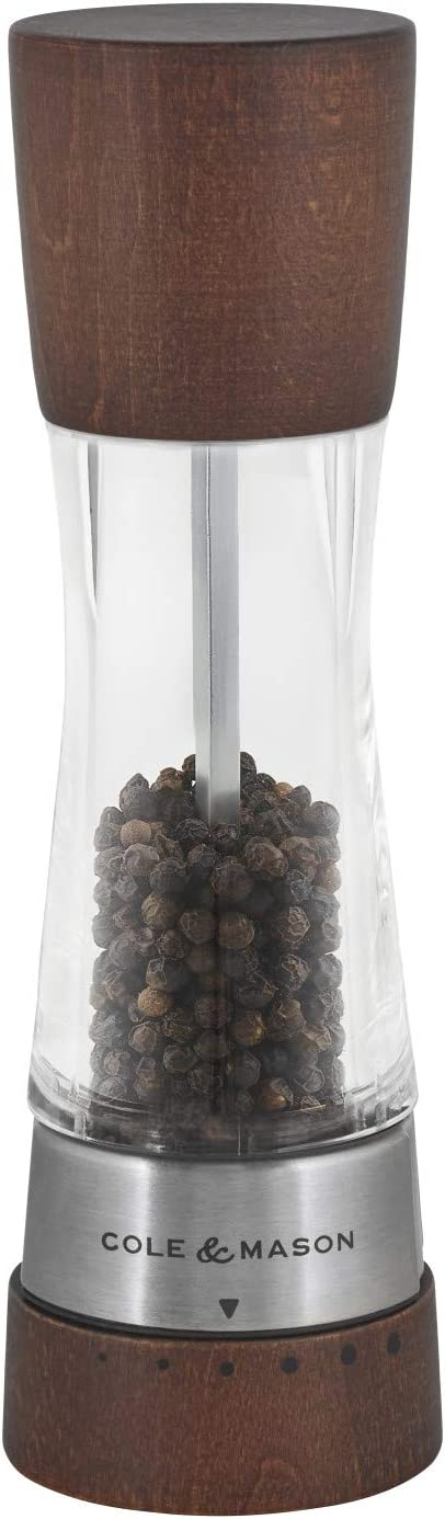 Cole & Mason H594291GU Gourmet Precision Derwent Forest Wood Pepper Mill, medium,