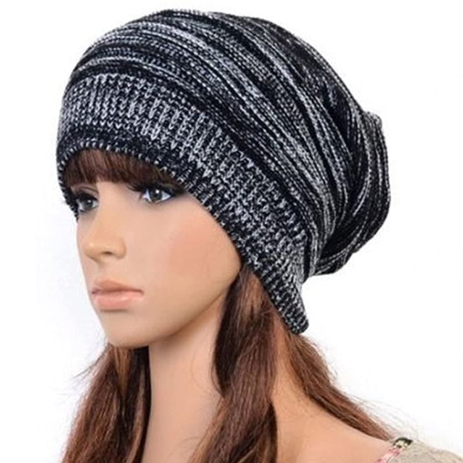 Hot fashion slouch baggy beanie cap slouchy skull hat mens womens hot fashion slouch baggy beanie cap slouchy skull hat mens womens knit hat black at amazon womens clothing store dt1010fo