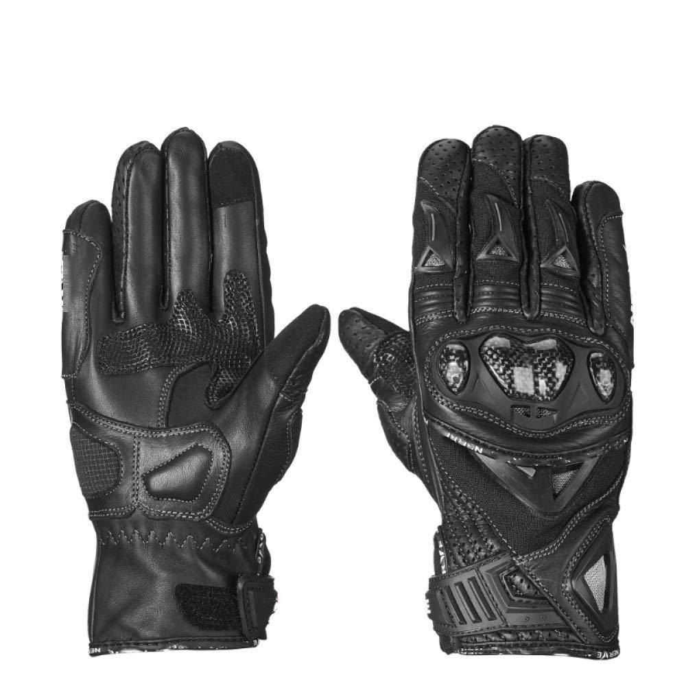 Qzp Motorrad-Reithandschuhe Herren Winter Warm Wasserdicht Winddicht Splitterfest Rennfahrer Motorradhandschuhe,schwarz(E)-XXL