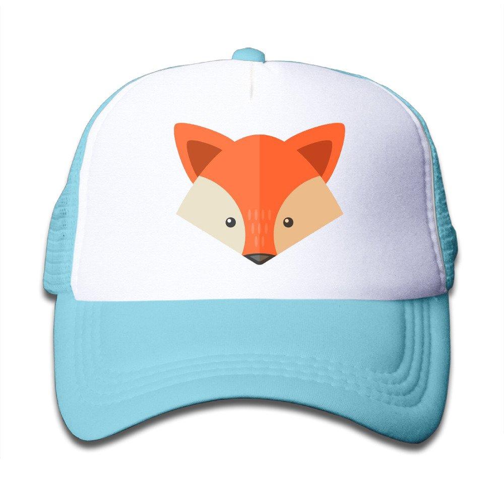 Classic Fox Baseball Cap Adjustable Mesh Hat For Children