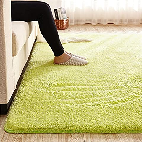 Super Soft Green Area Rug Kids Rugs Artic Velvet Mat with Plush and Fluff for Bedroom Floor Bathroom Pets Home Hotel Mat Rug (6.5' x 8.2', (Blue And Green Bedroom Rugs)