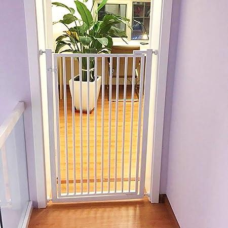 Barrera Seguridad Puerta para Niños Extra Alta Y Ancha: Fácil De Caminar A Través De La Puerta para Perros para El Pasillo/Entrada De Escaleras/Puertas, 90 Cm De Alto (Size : 77-79cm): Amazon.es:
