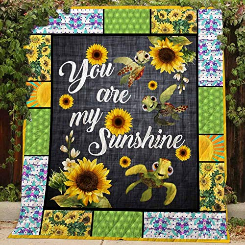 You are My Sunshine Quilt TH359, King All-Season Quilts Comforters with Reversible Cotton King/Queen/Twin Size - Best Decorative Quilts-Unique Quilted for Gifts