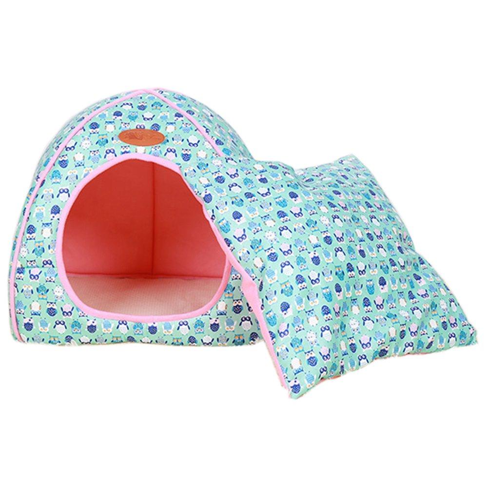 Pet Nid Luxe Amovible Doux Confortable Chiot Chaton Lit Chaud Maison Tente Lavable Pliable Chien Et Chat Lit D'Hiver Bleu S Anyu