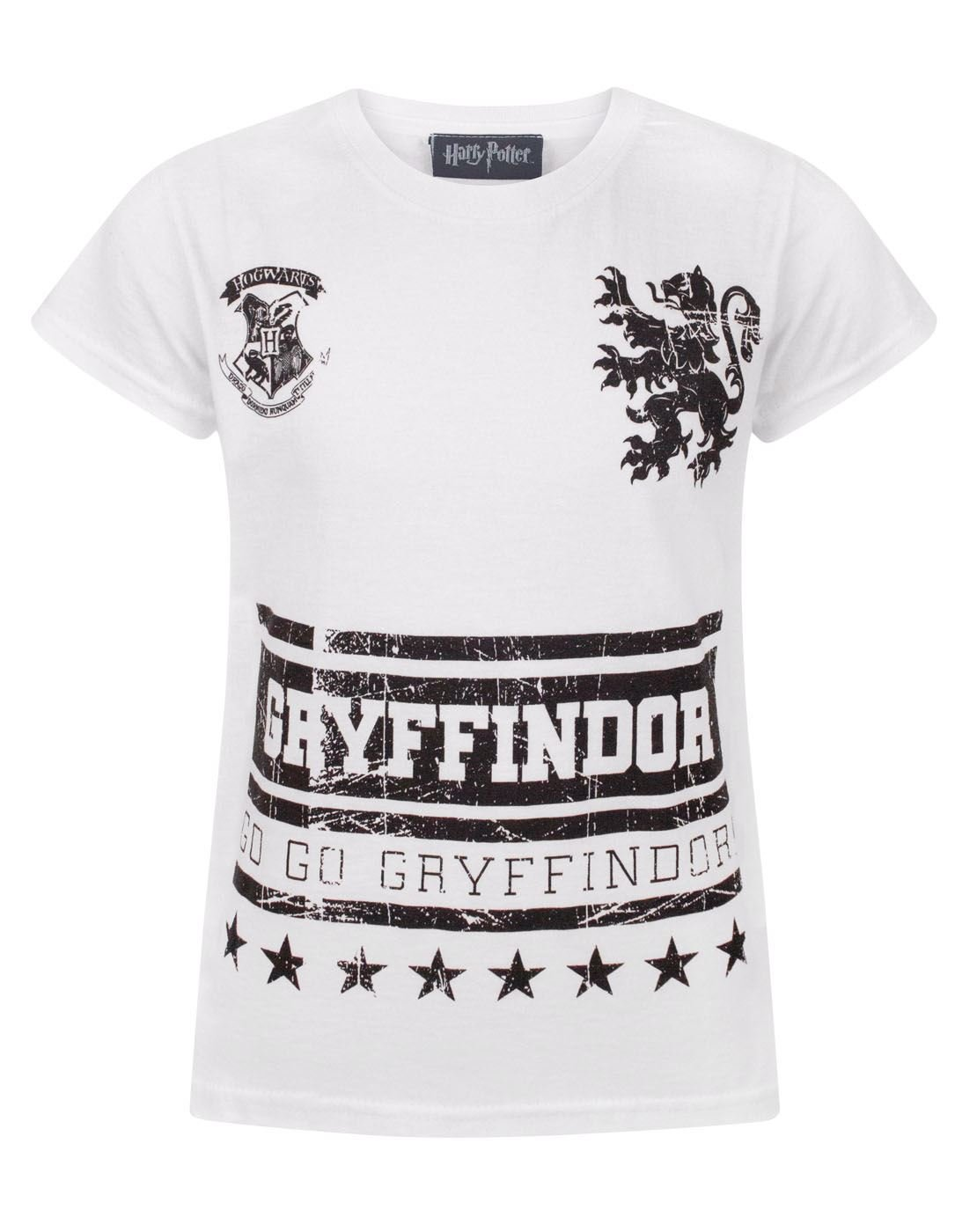 Harry Potter Go Gryffindor Girl's T-Shirt Fashion UK
