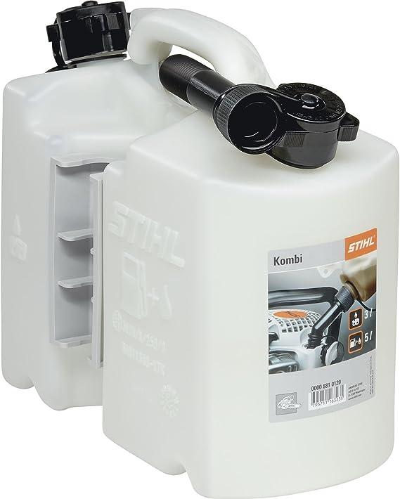 Stihl 8810120 Kombi Kanister Für 5l Kraftstoff Und 3l Öl Transparent Baumarkt
