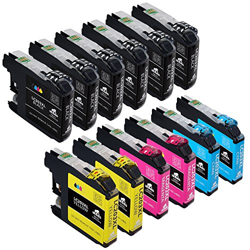 12-Pack IKONG Compatible for Brother LC203 LC203XL Works with Brother MFC-J480DW,J680DW,J485DW,J885DW,J460DW,J880DW,MFC-J4420DW,J4620DW,MFC-J4320DW,MFC-J5620DW,MFC-J5520DW,MFC-J5720DW - Brother Oem Print Cartridge