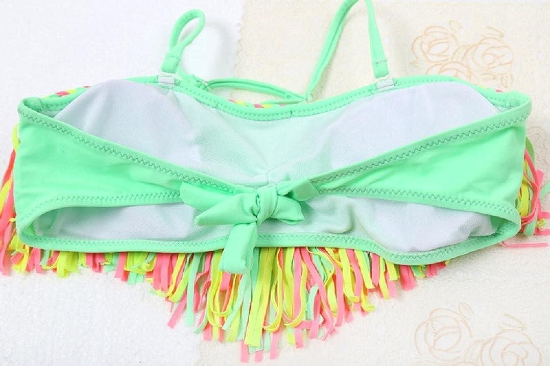 OverDose 1Set Traje de ba/ño de Verano Ni/ñas Traje de ba/ño ni/ños Split Nylon Traje de ba/ño Conjunto de Bikini