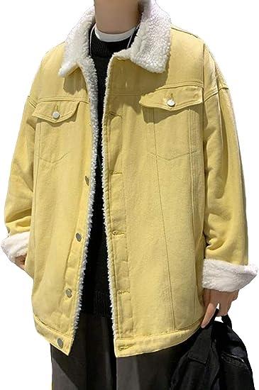 (BaLuoTe)デニムコート メンズ 秋冬 中綿ジャケット デニム ブルゾン ジージャン カジュアル デニムジャケット 綿入れ アウター ゆったり 韓国風