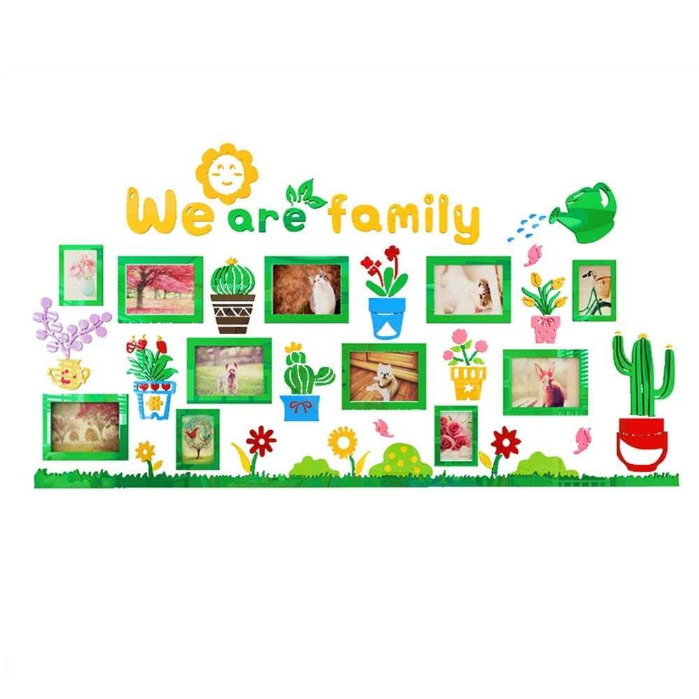 Photo Wall Caixia, a Cartoon Photo Frame Wall Sticker That Kids Love, accompanying Children to Grow Every Moment (Size : Large)