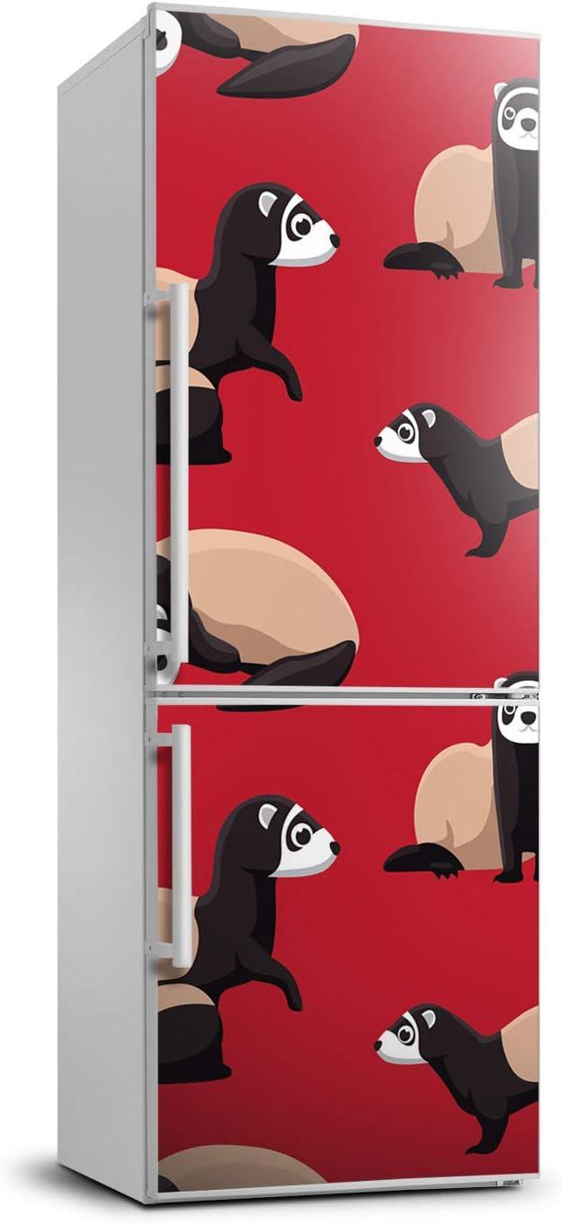 Tulup Etiqueta Engomada Del Refrigerador 70x190 cm Pegatinas Cubierta Del Refrigerador Película Autoadhesiva Cubierta Pared Decoración Sala de Estar Cocina - hurones