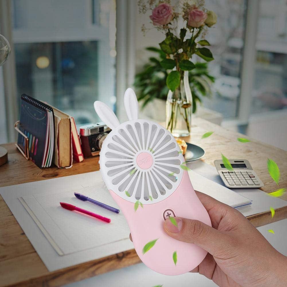 Up to 50/% Off Qianmei 800mAh Handheld Mini Fan 3-Level Wind-Force Cartoon Long Work Time Hand USB Fan