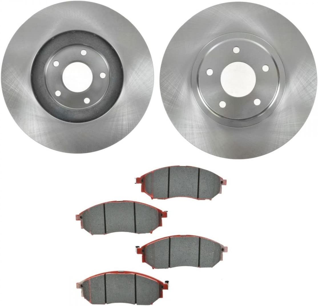 Front /& Rear Drilled Slotted Brake Rotors /& Ceramic Pads For Infiniti M45 Q45