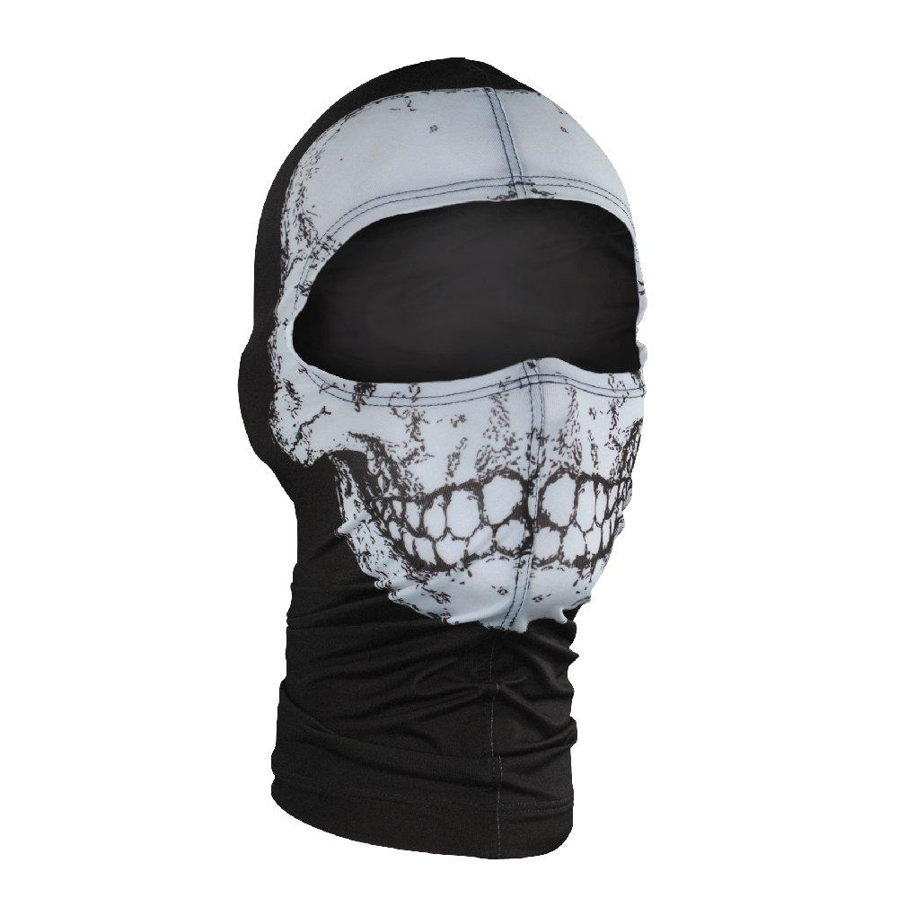 ZANheadgear Nylon 'Skull' Design Balaclava (Multicolor, One Size)