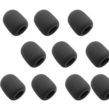 Mikrofon Schaumstoff Abdeckung Mikrofon Windschutzscheibe 10 Stück Schwarz