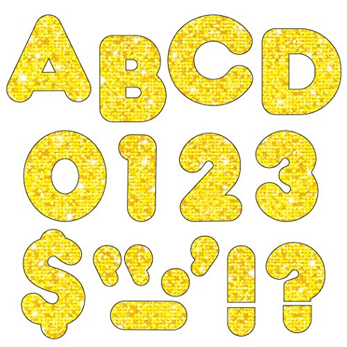 """Trend Enterprises Sparkle Casual Ready Letters, 142 per Package, 2"""", Yellow (T-509)"""