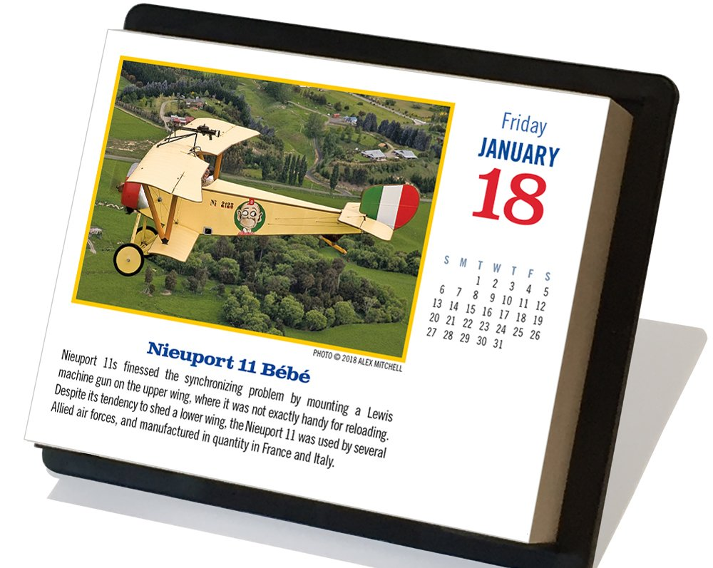 2019 Golden Age of Flight Desk Calendar