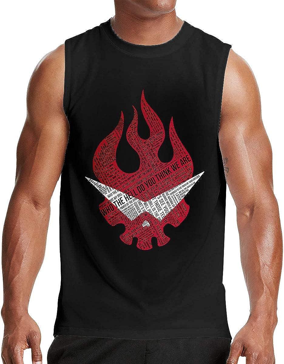 LindaDFeeney Meshuggah Mens Handsome Sleeveless Tank Vest T Shirt
