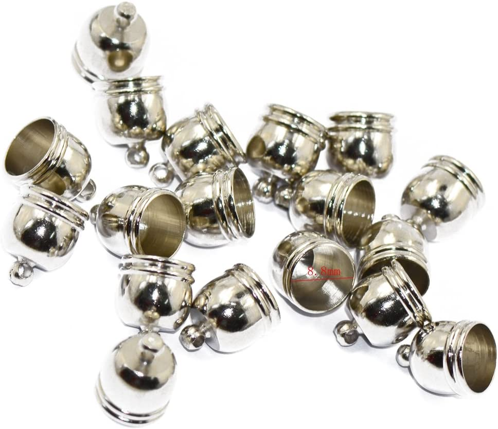 10x Brass Bell Spacer Beads End Cap Tip Jewelry Findings Craft DIY Silver