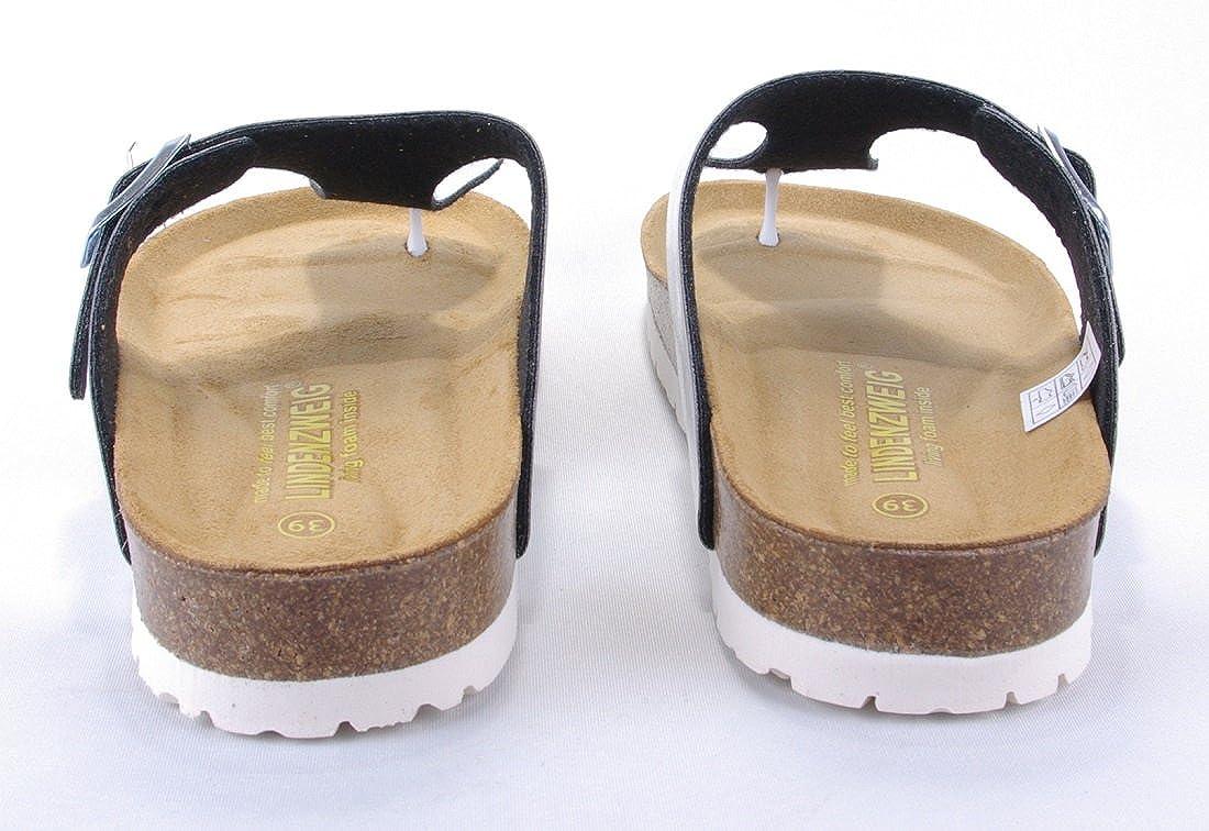 Lindenzweig Damen Zehentrenner Sandale Zehentrenner Damen Silber glänzend - ada6d1