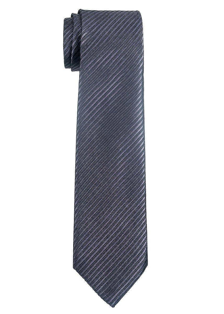 Retreez Jungen Gewebte Krawatte Textur Gestreifte - 8 - 10 Jahre RTZ-KDTIE-0004-BLGRY