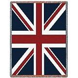 Union Jack Flag Blanket Throw - 69 x 48 USA Made