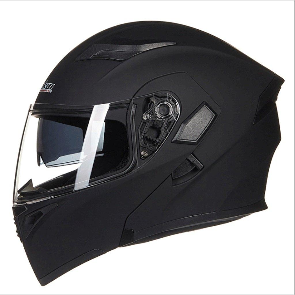DGF ヘルメットダブルレンズオープンフェイスヘルメットオートバイ機関車トラムプロフェッショナルレーシングスポーツライト快適な多色オプションの男性と女性 (色 : A, サイズ さいず : L l) B07FNPTY5C L l|A A L l