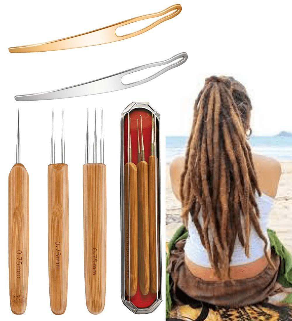 Dreads Hair Crochet Needle Hook Bamboo Handle Double Crochet LI