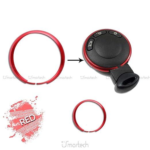 Smartechnology - Anillo decorativo de aluminio, carcasa para mando a distancia - llave de vehículo Mini