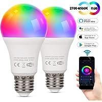 TAOCOCO Bombilla LED inteligente WiFi con luz cálida