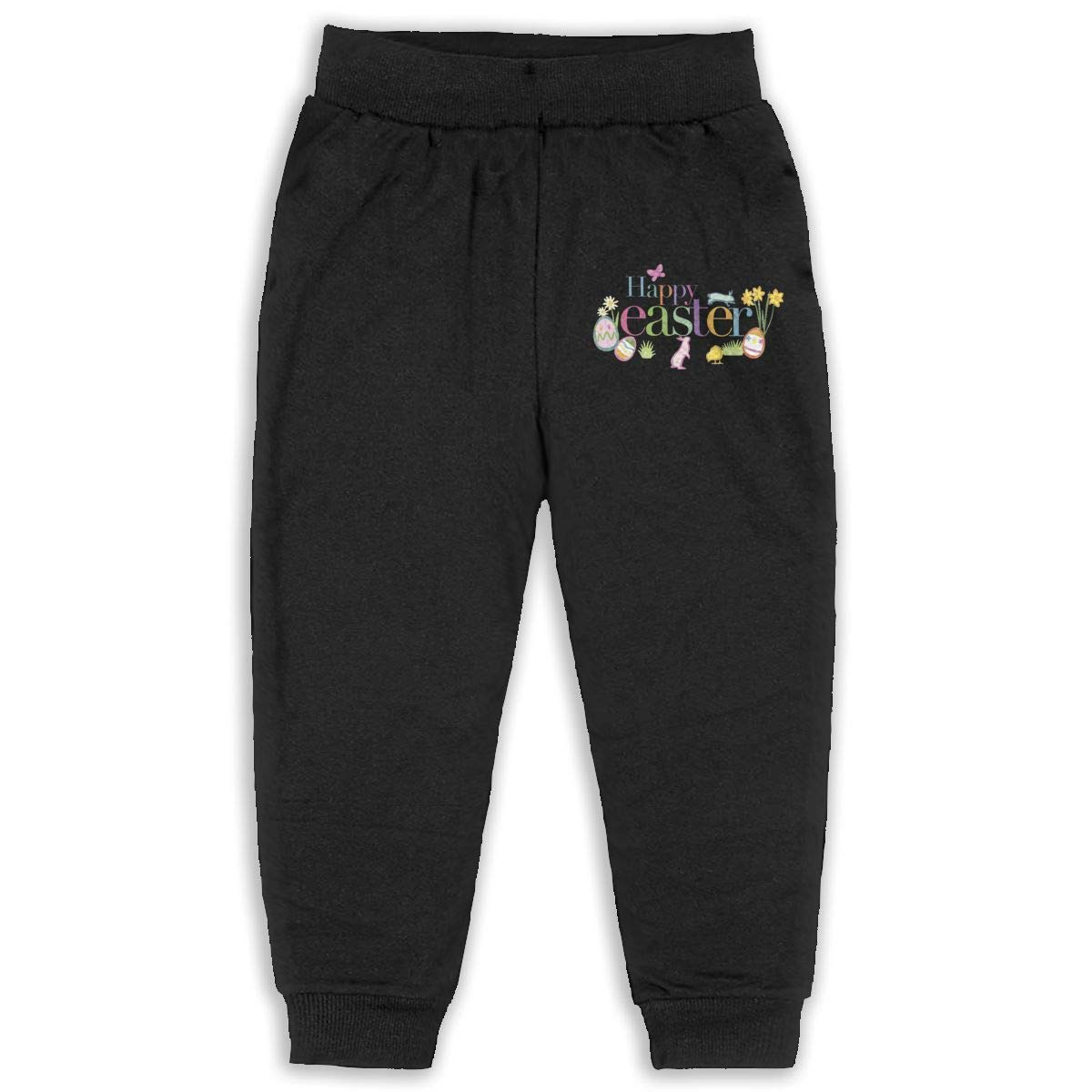 Nyanhif Design Happy Easter Pants for Child Black