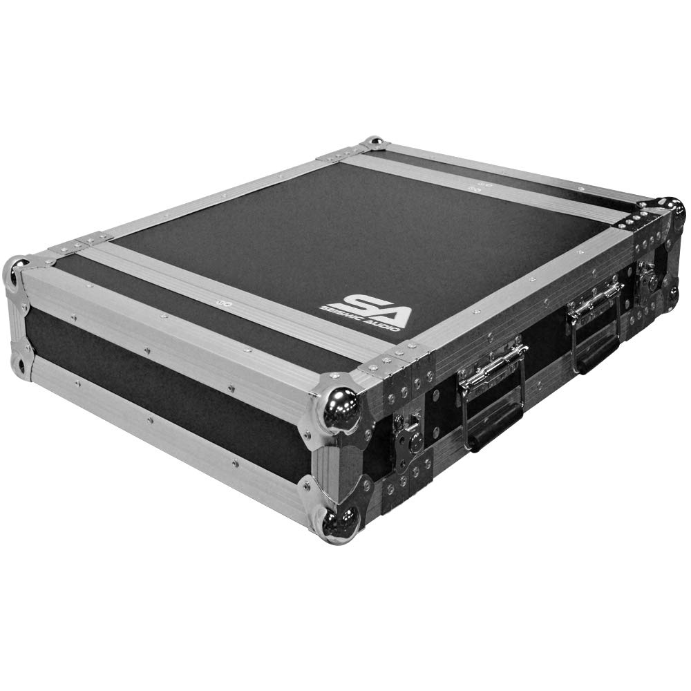 Seismic Audio - SATAC2U - Heavy Duty 2 Space ATA Rack Case - 2U Vertical PA DJ Amplifier Flight Case - Pro Audio DJ Rack