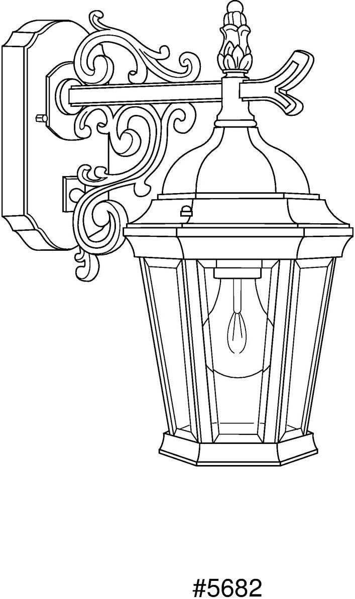 Progress Lighting P5682-30 Traditional One Light Wall Lantern from Welbourne Collection Finish, 6-1 2-Inch Width x 13-1 4-Inch Height, Textured White