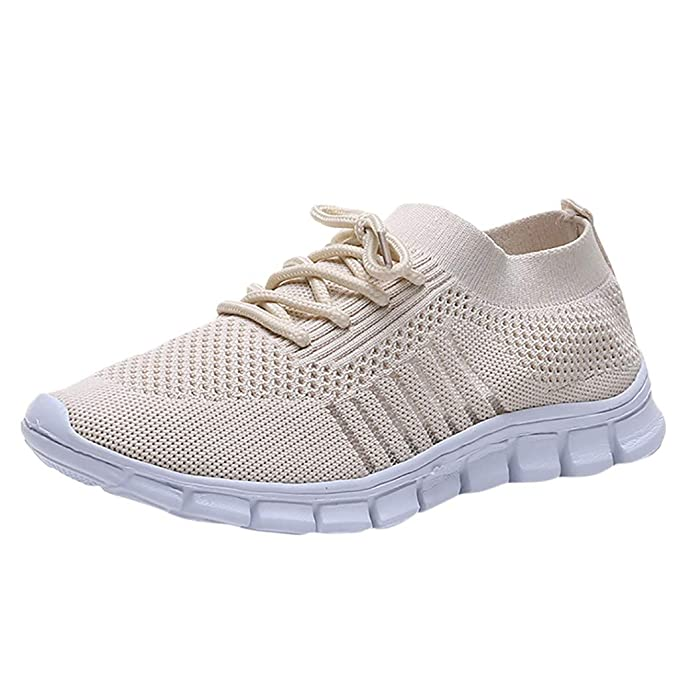 cb86e505e1474 Amazon.com: Londony ✡ Women's Athletic Walking Shoes Casual Mesh ...
