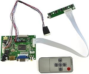 DIY HDMI VGA 2AV Reversing LCD Driver Board for LED Panel 40 Pins N156BGE-L21 NT156WHM-N50 LP156WH4-TLN1 LP156WH4-TLN2 LTN156AT23-W01 LP156WH4-TLA1 LP156WH2-TLA 1366×768 LCD Panel
