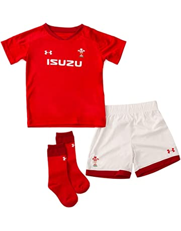 b14c8947504ea Wales WRU 2018/19 Infant Home Replica Rugby Kit - Red