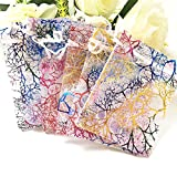 100pcs White 4x6'' inch Coralline Organza Wedding Party Favor Candy Gift Bags Jewelry Pouch ~ Cafolo