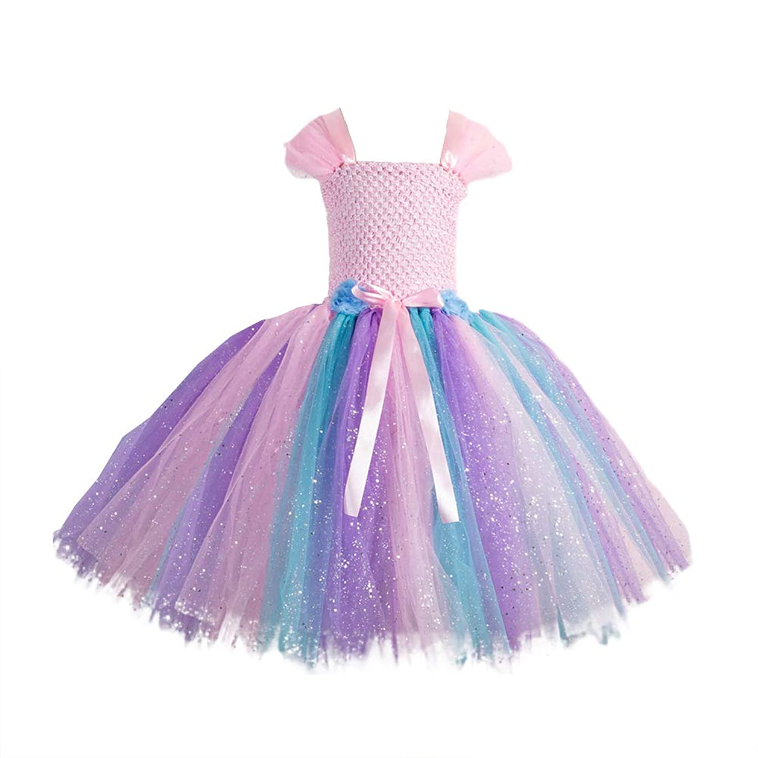 6ec1f14d4 ♤TUTU PRINCESS DRESS --- Girls Tutu dress with color bow-knot ribbon,  bright color, extremely keep fluffy. Fancy lovely princess dress costume  for party, ...