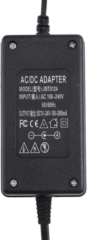 Adaptateur AC vers DC 3-24 V 2 A R/églable Alimentation R/églable Contr/ôleur de Vitesse Moteur