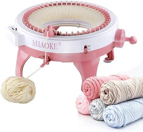 YWZQ Hand Loom Knitting Machine Smart Weaving Loom Round Knitting Machines Knitting Board Rotating Double Knit Loom for Sock Hat