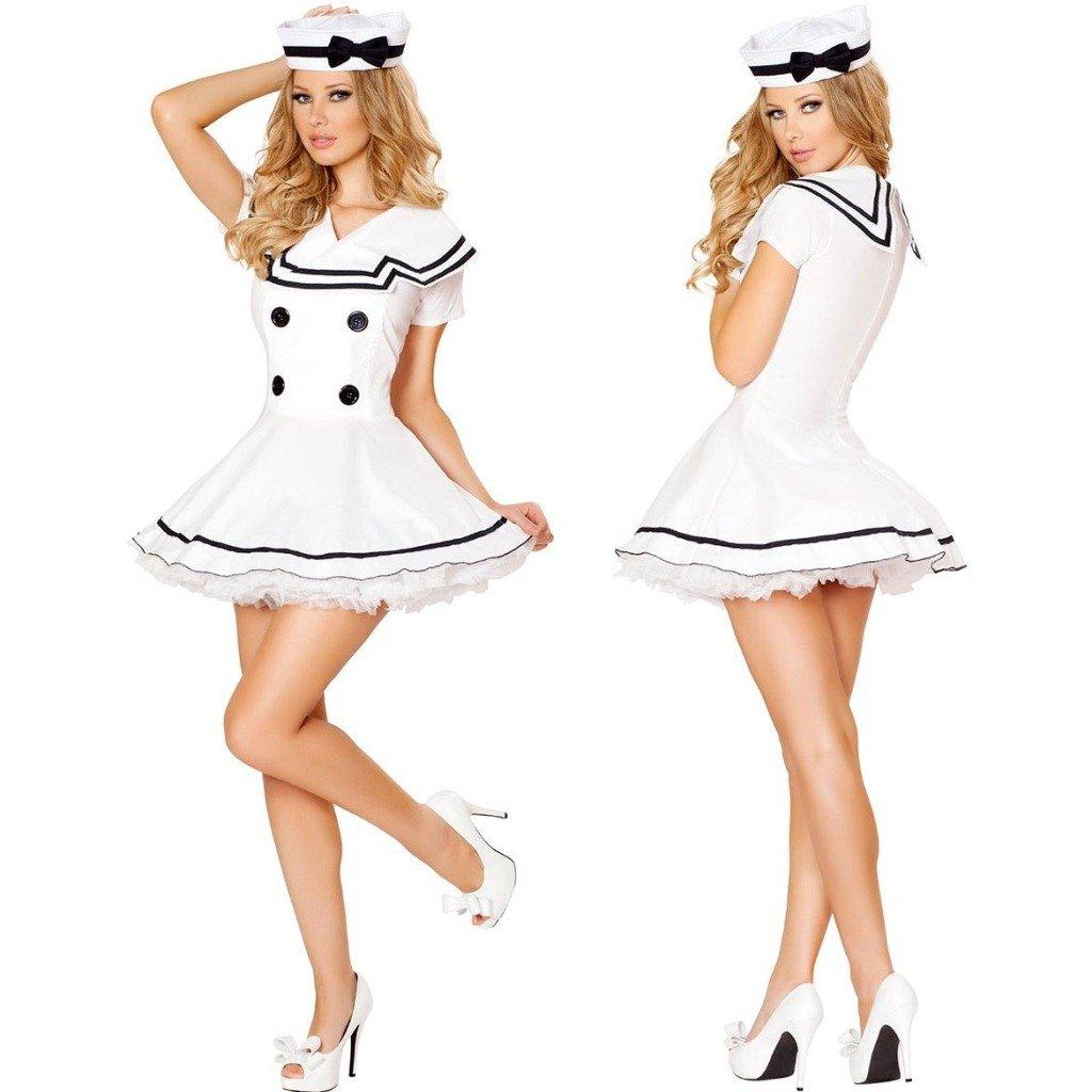 LLY l'europe des Uniformes de Jeu de rôle à Jouer Blanc Uniformes des élèves de Costume Marine, White
