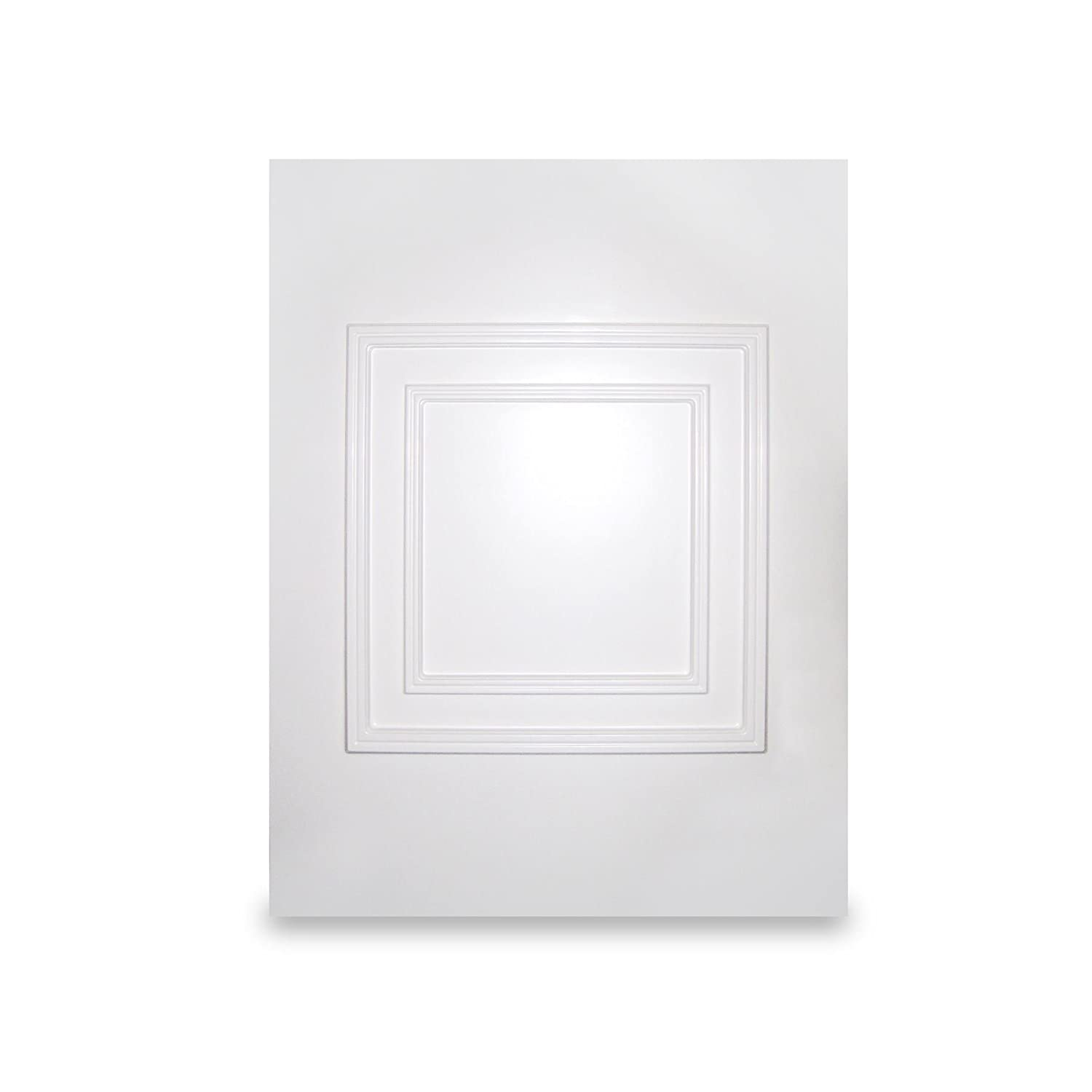 White UPVC Hanover Half Door Panel MDF Reinforced Raised Moulded (w:700mm x h:900mm) 28mm Thick Truly PVC Supplies