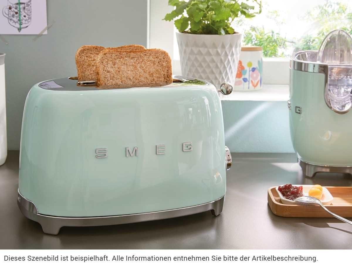 SMEG Exprimidor CJF01PGEU, 70 W, Acero Inoxidable, verde pastel ...